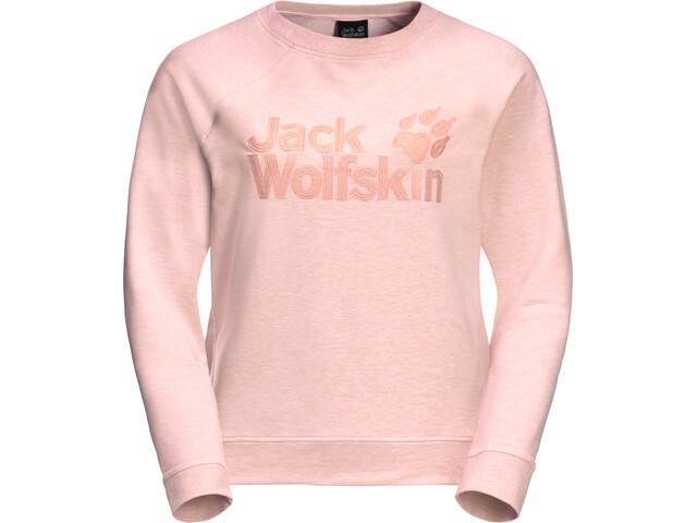 Jack Wolfskin Logo Sweat-shirt Femme, blush pink